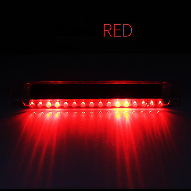(16 Highlights, 11 Flash modes)--Emergency Warning Vehicle Strobe Light Bar Kit--Solar protection taillight,  Wiring free installation