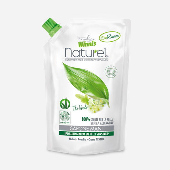 Sapone Mani Ecoricarica Thè Verde Winni's Naturel 500ml