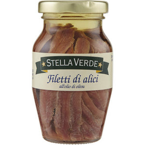 Filetti di alici in olio di oliva Stella Verde 80 g