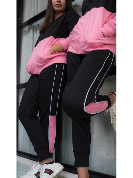 Colour block jogger pants
