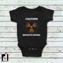Load image into Gallery viewer, 'CAUTION Radioactive Material' Onesie