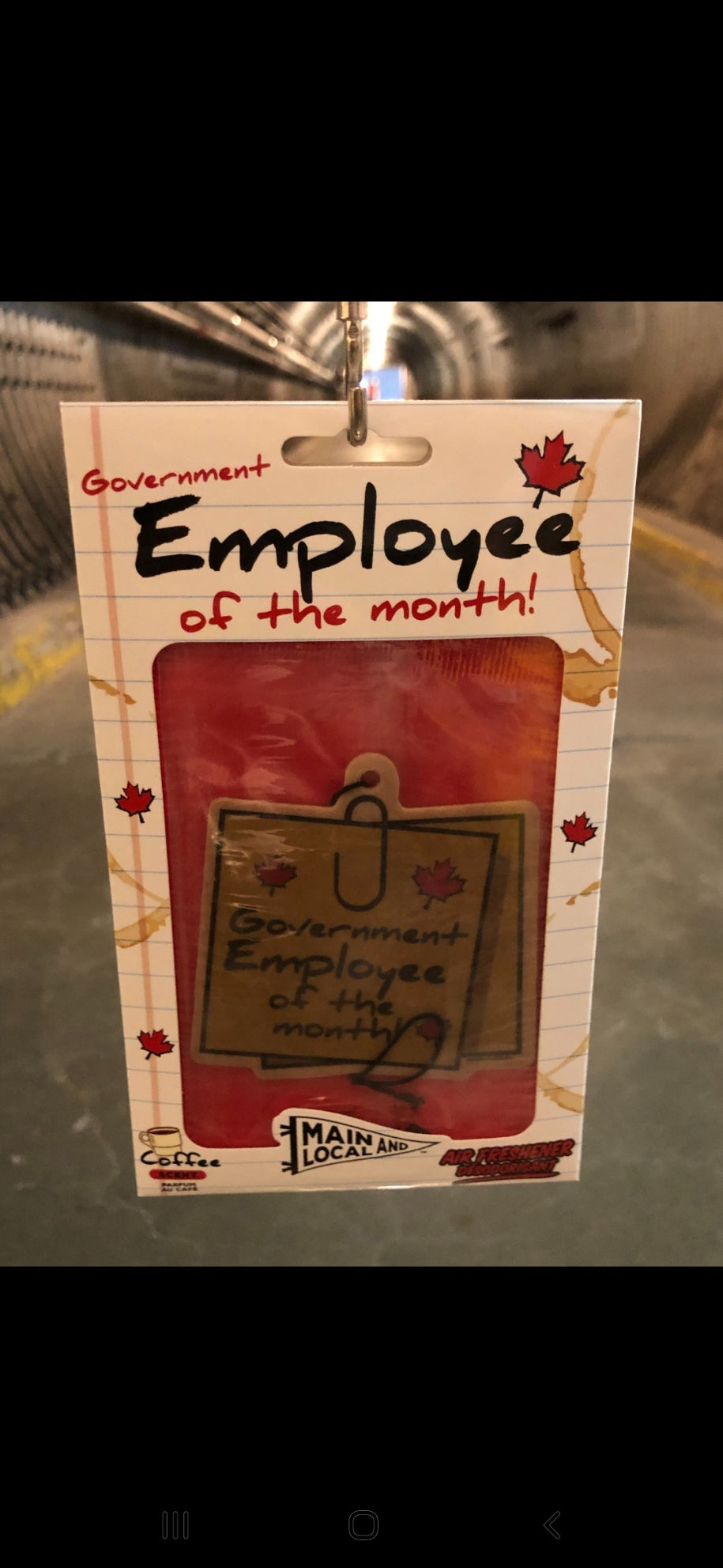 Government Employee of the Month Air Freshener