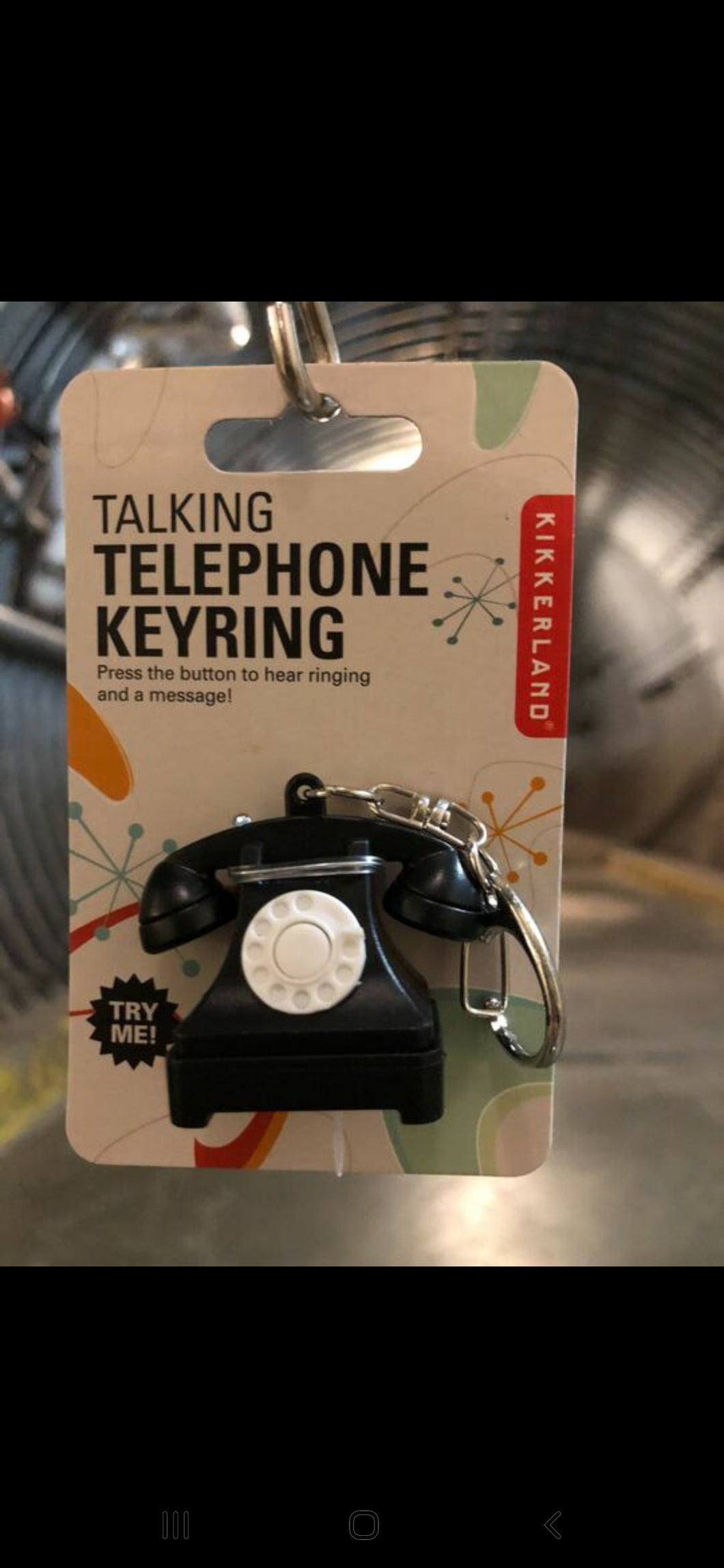 Telephone Key Chain