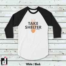 Load image into Gallery viewer, 'Take Shelter' Baseball Shirt
