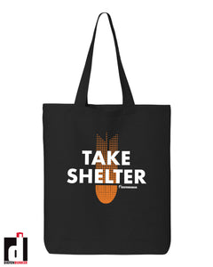 'Take Shelter' Tote Bag