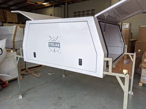 Dual Cab Flat Tray Lift-off Canopy White