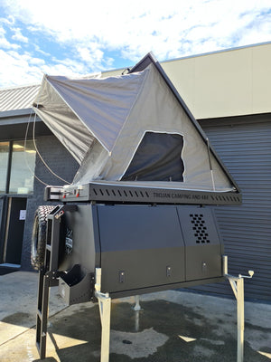 Deluxe Canopy Package - Lift off canopy, internal fitout, accessories pack & Rooftop Tent