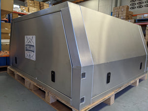 1800 x 1800 x 860 Flat Tray Lift-off Canopy Flat Alloy