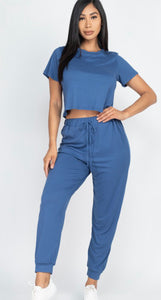 2pc Lounge Set (Blue Haze)
