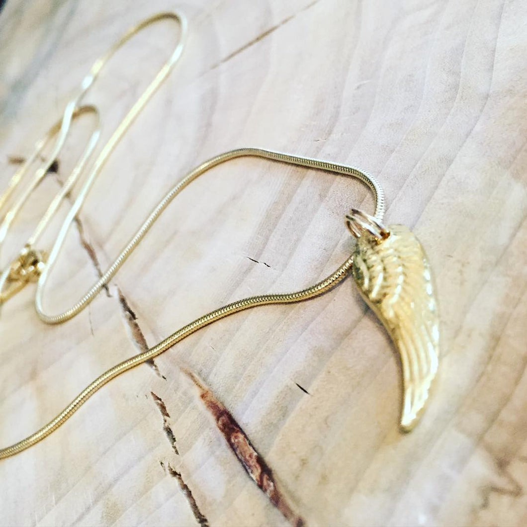 Small Gold Angel Wing