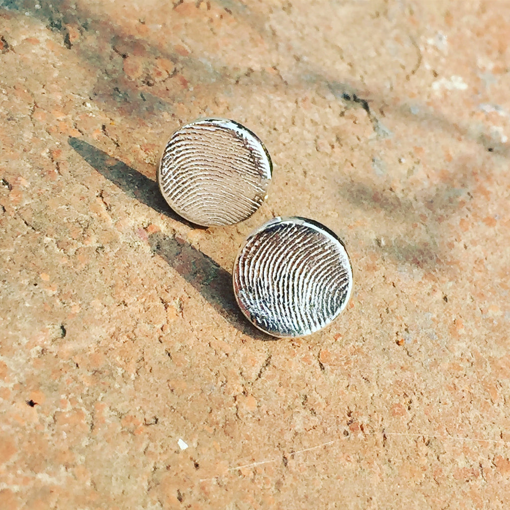 Personalized Fingerprint Stud Earrings