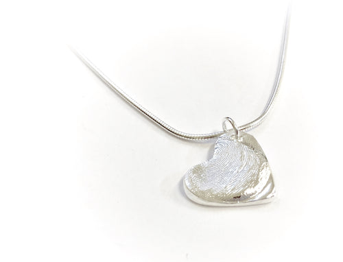 Personalized Heart Shaped Fingerprint Necklace