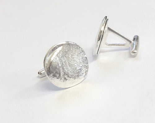 Personalized Fingerprint Cuff Links