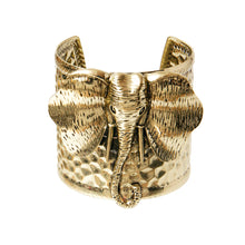 Load image into Gallery viewer, Burnished Metal Elephant Bangle