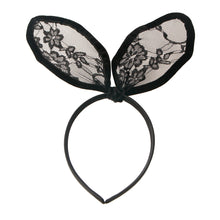 Load image into Gallery viewer, Black Lace Bunny Ears