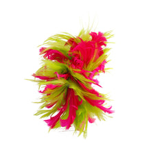 Load image into Gallery viewer, Pink and Green Feather Fascinator