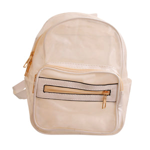 WhiteTransparent Backpack
