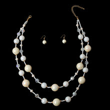Load image into Gallery viewer, Ivory Pearl Necklace Set
