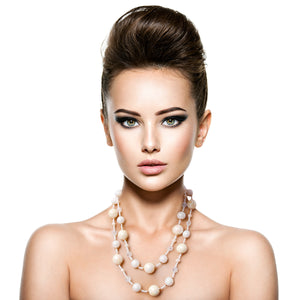Ivory Pearl Necklace Set