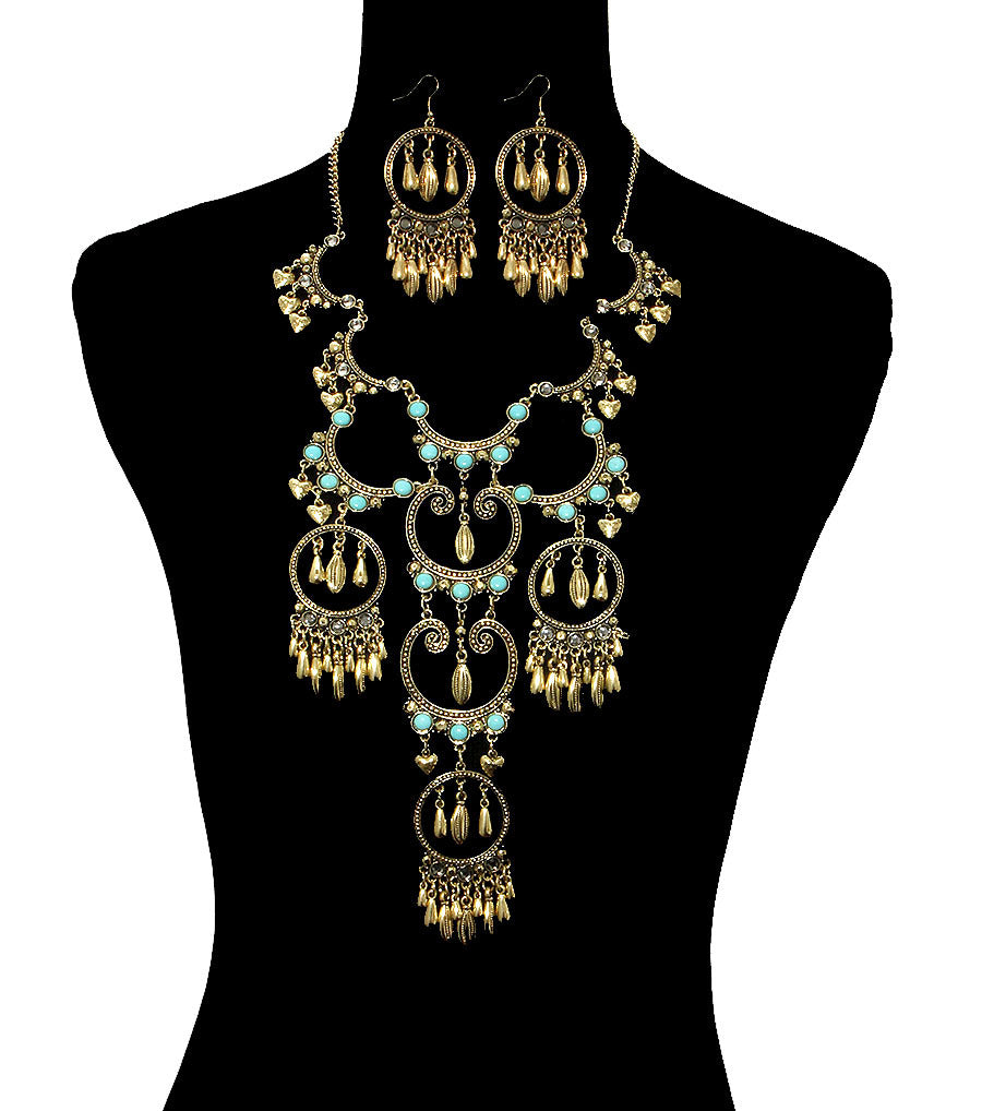 Bohemian Style Necklace Set