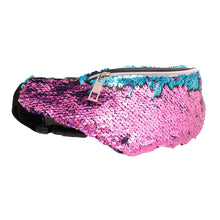 Load image into Gallery viewer, Blue to Purple Sequin Fanny Pack