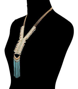 Beads Drop Necklace Set