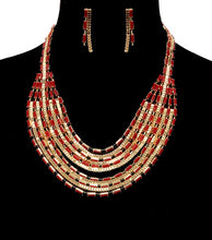 Load image into Gallery viewer, Beads Metal Necklace Set