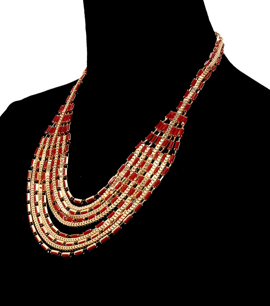 Beads Metal Necklace Set