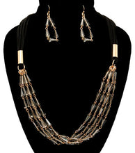 Load image into Gallery viewer, Beads Suede Necklace Set