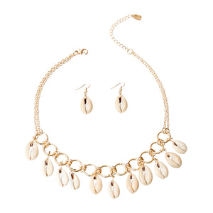 Cowrie Shell Necklace Set