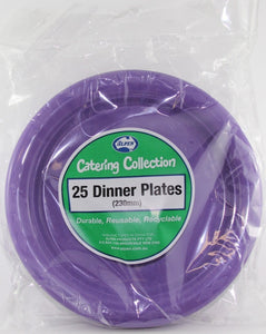 Plastic Dinner Plates - Purple Pk 25
