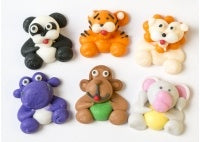 Edible Cake Decorations - Sugar Mini Sea Animals Pk 12 Asstd