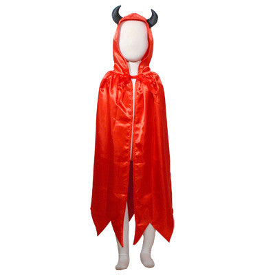 Cape - Deluxe Red Devil Hooded (Child)