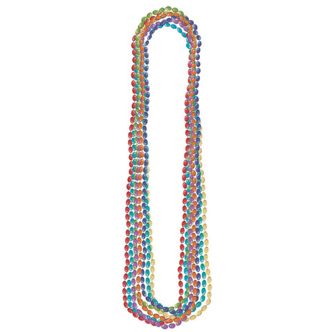 Bead Necklace - Metallic Rainbow