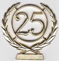 Cake - 25th Wreath Plaque (Gold or Silver)