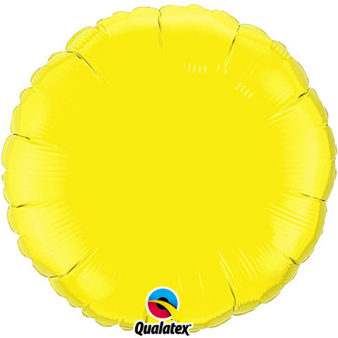"Foil Balloon 18"" - Round (Yellow)"