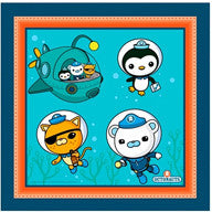 Printed Lunch Napkins - Octonauts Pk 16
