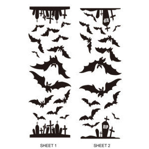 Wall Decals - Bats & Graveyards