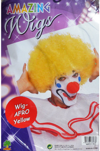 Wig - Clown Afro (Yellow)
