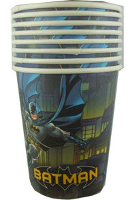 Printed Paper Cups - Batman Pk 8