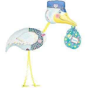 Foil Balloon Air Walker - Special Delivery Stork