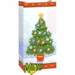 Loot Bag - Christmas Tree Paper Pk 10