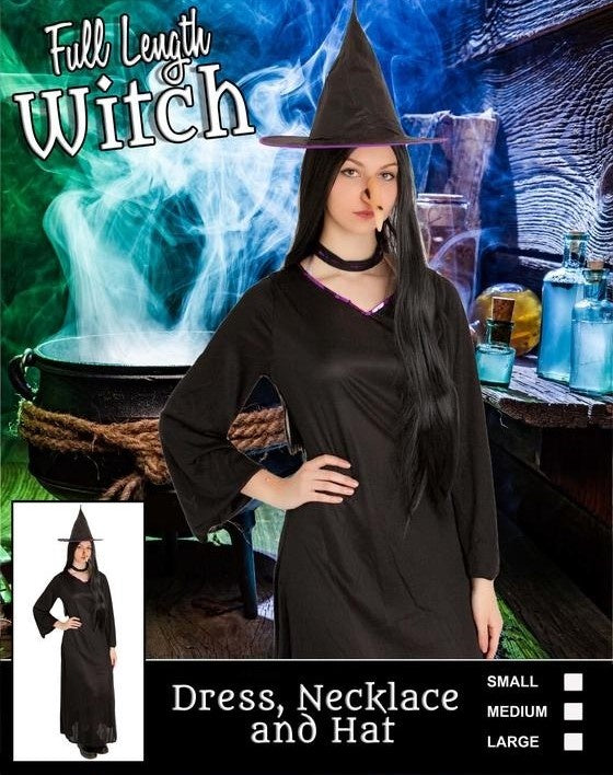 Costume - Full Length Witch Adult