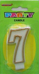 Candle Number - 7th Gold Border
