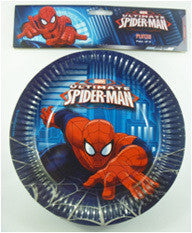 "Printed Plates 9"" - Spiderman Pk 8"