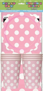 Party Pk For 8 - Baby Pink Dots