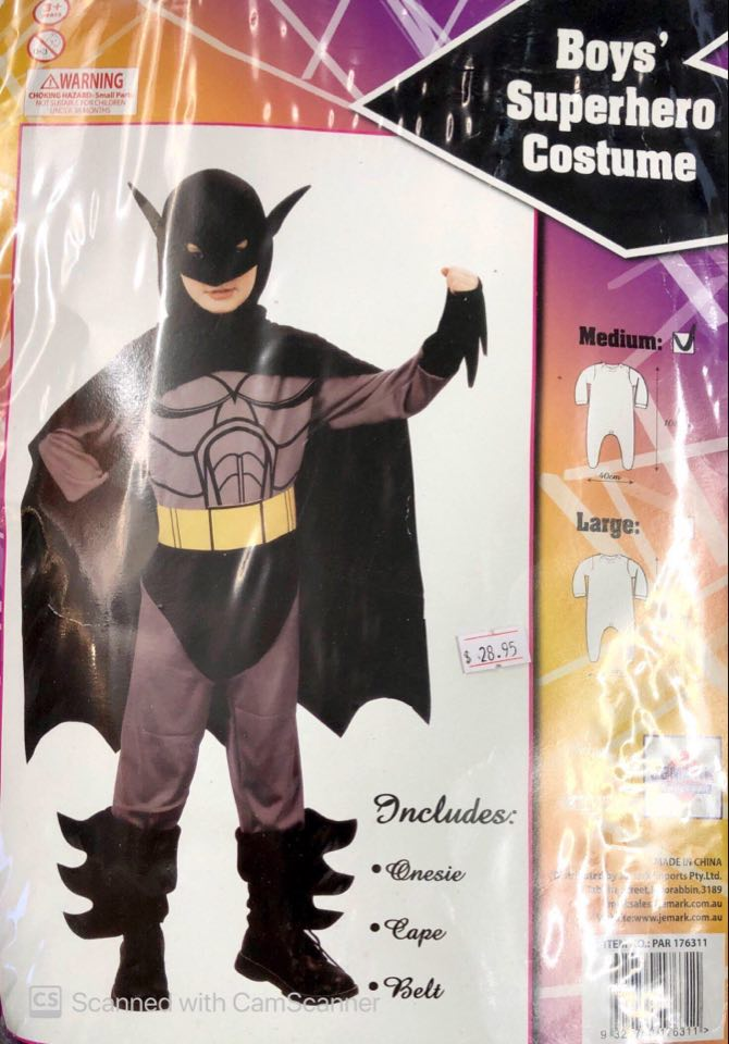 Costume - Child Bat Hero