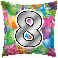 "Foil Balloon 18"" - 8th Square"