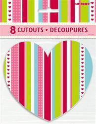 Cut Outs - Mini Hearts Pk 8