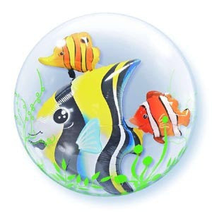 "Double Bubble Balloon 24"" - Sea Fish"